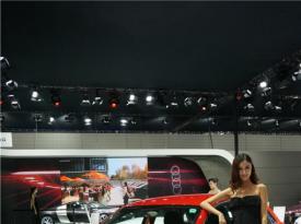 2013昆明泛亚国际车展车模现场照第1波:奥迪车模