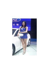2013昆明国际汽车博览会车模现场照:第二波